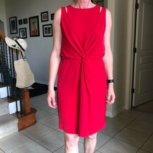 Elegant Red DKNYC Dress